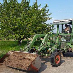 Bauer Jan im Traktor