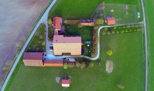 Bauernhof Ferienhof Birnbaum von oben
