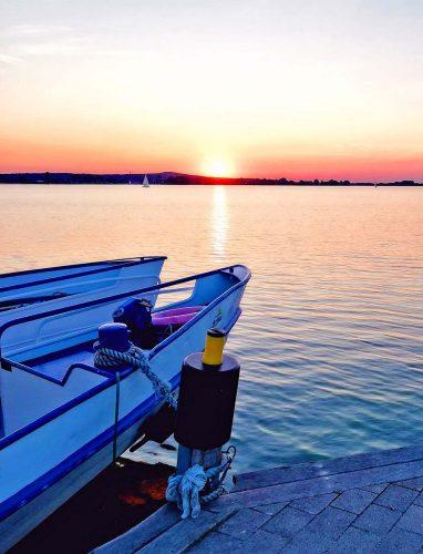Fränkisches Seenland im Sonnenuntergang