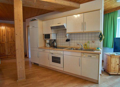 Küchenzeile in einer Ferienwohnung