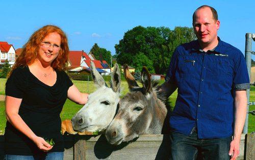 Mareike, Jan und Esel