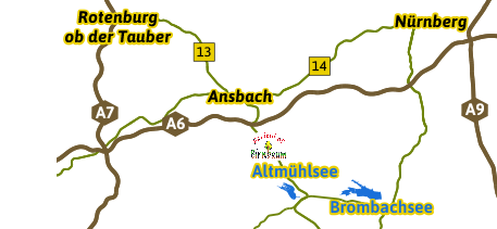 Karte Region Franken